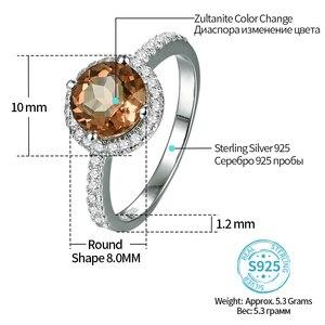Image 2 - Zultanite bague en argent pour femmes, changement de couleur, pierre de mariage S925, 2.3 Carats, créé par la mode