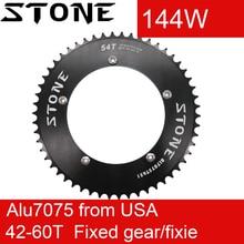 Pietra Corona 144 BCD per la Pista Bike Fixed Gear fixie 42/44/46/48/50/ 52/54/56/58/60T T Ciclismo 144BCD Chainwheel Dente Piatto