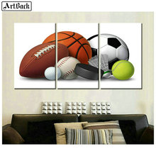 Full square three fight 5d diamond painting football rugby basketball picture mosaic embroidery crafts