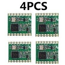 4pcs RFM69HC RFM69HCW לורה מודול FSK אלחוטי משדר מודול SX1231 433 915M 16*16mm