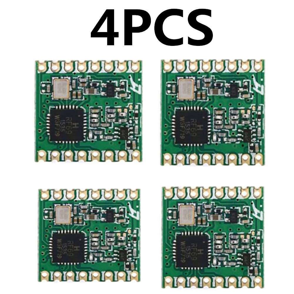 4pcs RFM69HC RFM69HCW Lora Module FSK Wireless Transceiver Module SX1231 433  915M 16 * 16mm