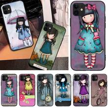 Cartoon Lovely Santoro Gorjuss DIY Painted Bling Phone Case For iphone6 6s plus 7 8 7 8 plus X XR XS MAX 11 Pro Max Cover
