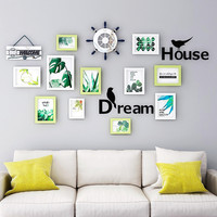 [HHT] Modern Living Room Photo Wall Decoration Free Punch Wall hanging Photo Frame Walls Background Home Decor Dream House