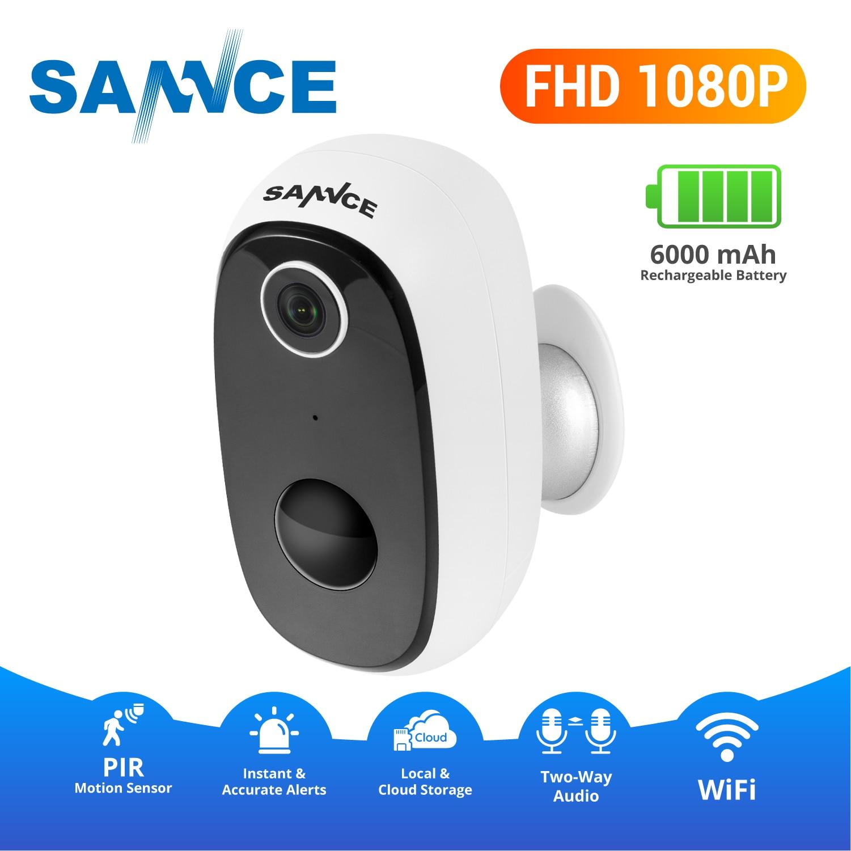 SANNCE IP65 zewnętrzny czujnik pir kamera IP 1080P naprawdę bezprzewodowa kamera przemysłowa bezpieczeństwo w domu wodoodporna bateria WiFi kamera IP