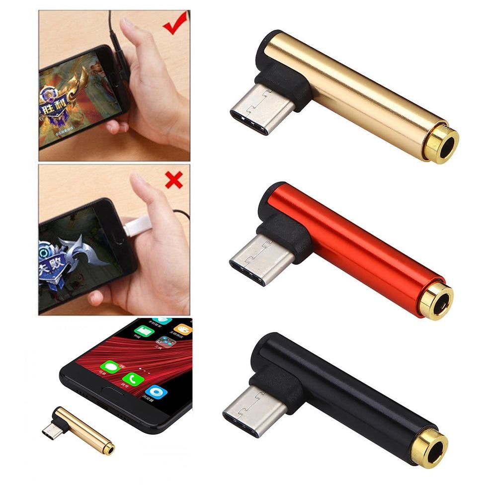2 In 1 Type C To 3.5mm Jack Earphone Charging Converter USB Type-C Audio Adapter For Xiaomi Smart Phone Type C Phones