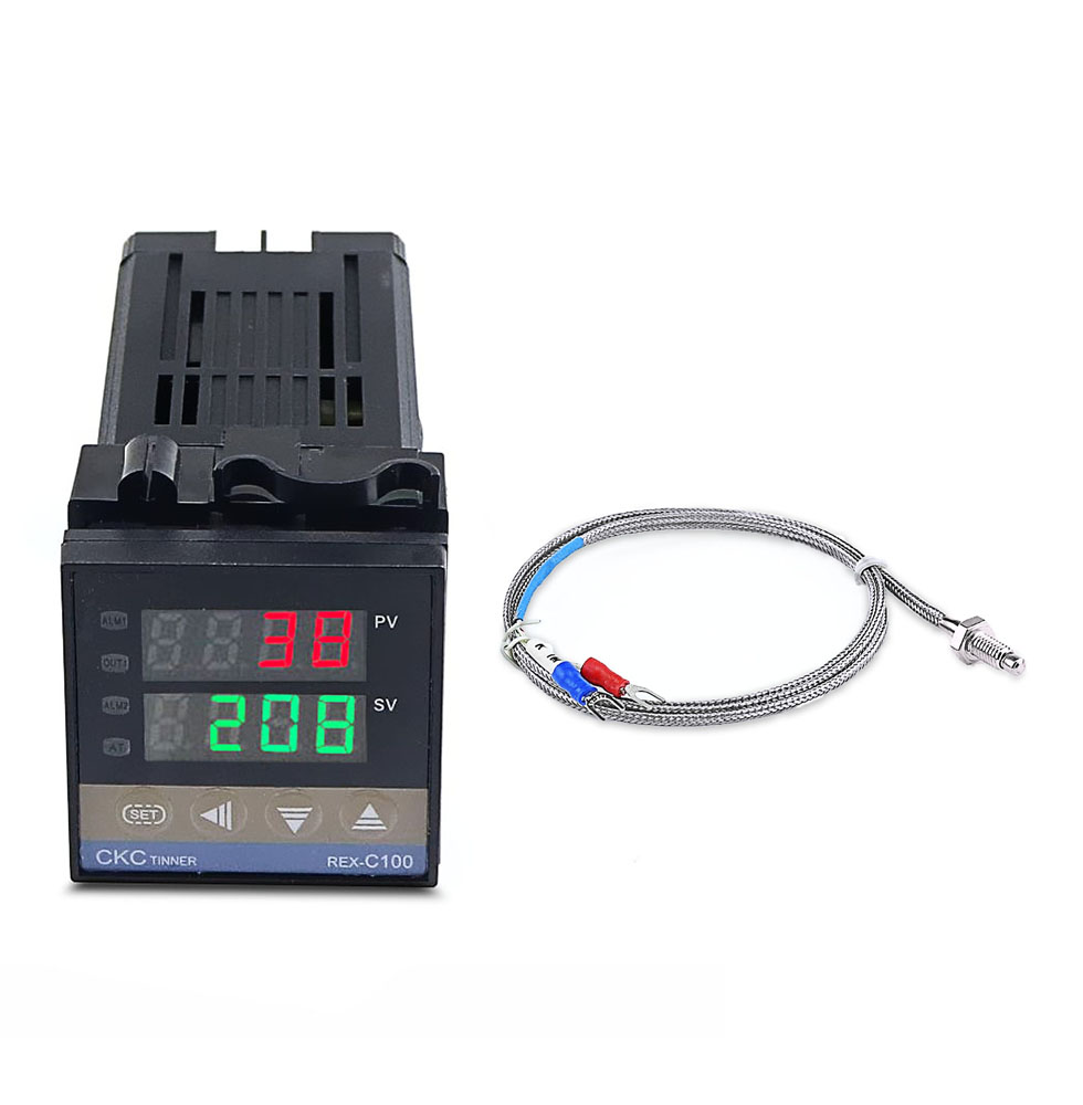 REX-C100FK02-V*DA  Solar Temperature Controller Thermostat Relay Output SSR Output   0~400 With 1M Thermocouple K SSR Output
