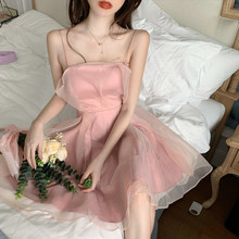 Vestidos de encaje de hadas para mujer, vestido Harajuku coreano Sexy blanco elegante de algodón rosa, bata de mujer, Vestidos Largos 2021