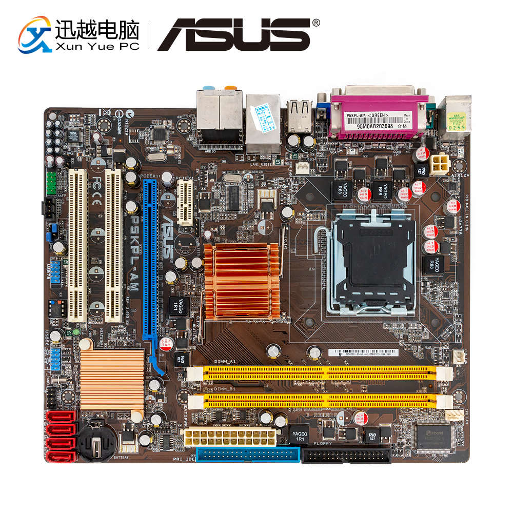 Asus P5KPL-AM Desktop Motherboard G31 Socket LGA 775 For Core 2 Extreme DDR2 4G SATA2 USB2.0 VGA UATX Original Used Mainboard