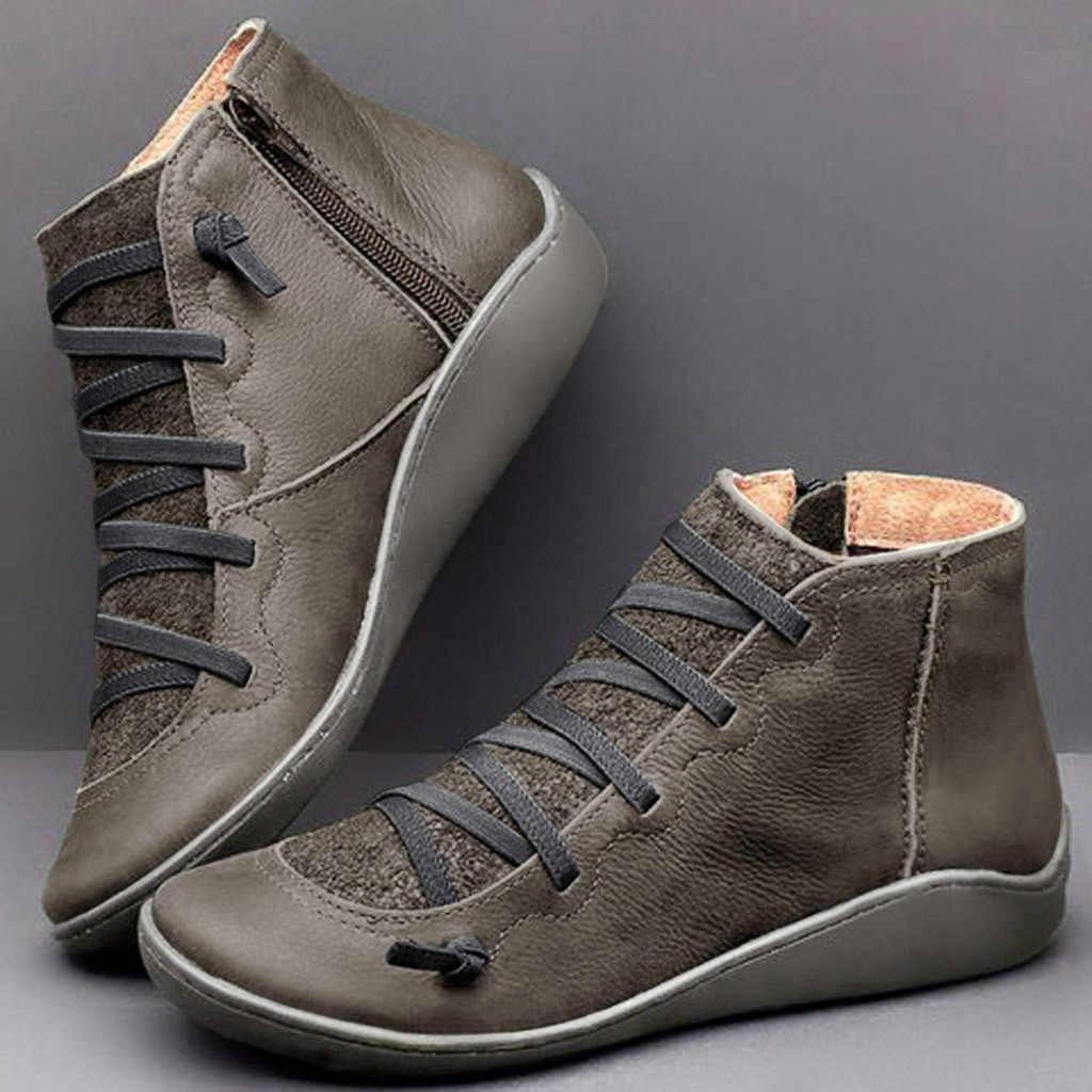 Bottillons femme nouveau lacet bottines daim couture bottes court soutien de la voûte plantaire confortable fond souple femme botte grande taille 43