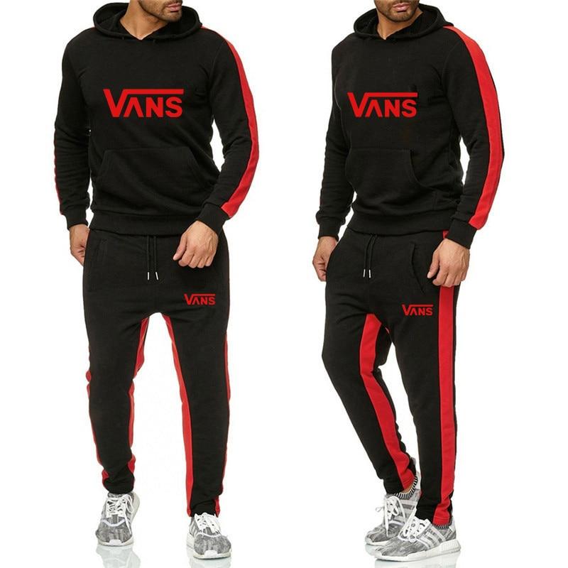The NewMen's Fashion Tracksuit Casual Sportsuit Men Hoodies/Sweatshirts Sportswear Coat+Pant Tracksuit Men Set Brand Clothing