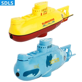 RC Mini Subamarine Remote Control Boats With LED light One Key Dive Electric RC Toys Simulation Boats Kids Toy For Children