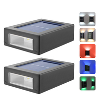 Luz Solar LED inteligente para exteriores, lámpara de pared Solar para Calle, luz nocturna para decoración de caminos de jardín, 2 uds.