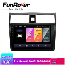 Funrover 2.5D + IPS Android 9,0 auto Radio Multimedia reproductor de dvd para suzuki swift 2005-2018 equipos de navegación gps video navi 2 Din(China)