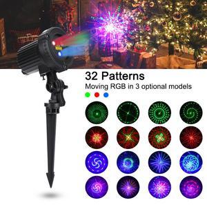 Image 1 - Rgb Doccia Esterna Spostare Stelle Remoto Della Lampada Laser Luci di Natale Giardino Impermeabile IP65 Festa di Natale Decorazione per La Casa