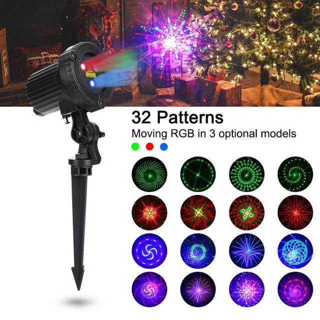 Rgb Doccia Esterna Spostare Stelle Remoto Della Lampada Laser Luci di Natale Giardino Impermeabile IP65 Festa di Natale Decorazione per La Casa