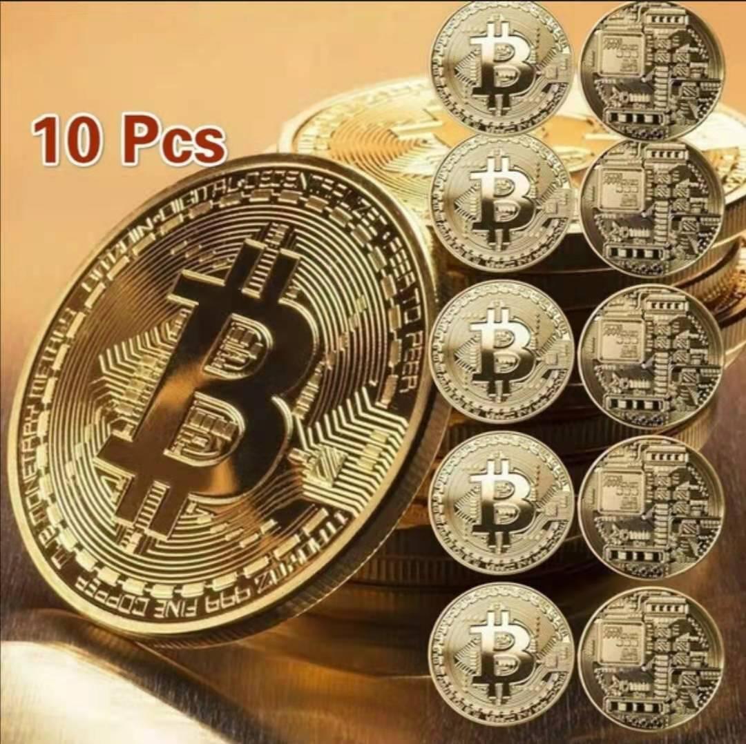 Позолоченная монета для биткоина, коллекционная Коллекционная художественная коллекция, подарок, физическая памятная бита Casascius BTC, металл...