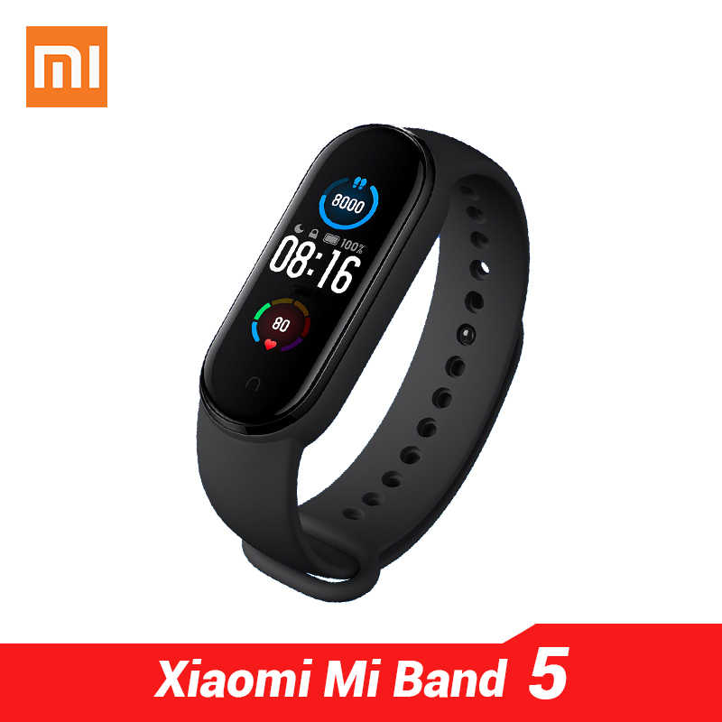 "Xiaomi Mi Band 5 Smart Armband 1.1 ""AMOLED Bildschirm 24h herz rate Schlaf Monitor MiBand 5 Grund & NFC 2 Version"