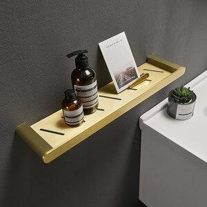 Étagère de douche d'angle murale | Étagères de salle de bains, aluminium brossé or clou perforé étagère de douche rangement mural, livraison gratuite