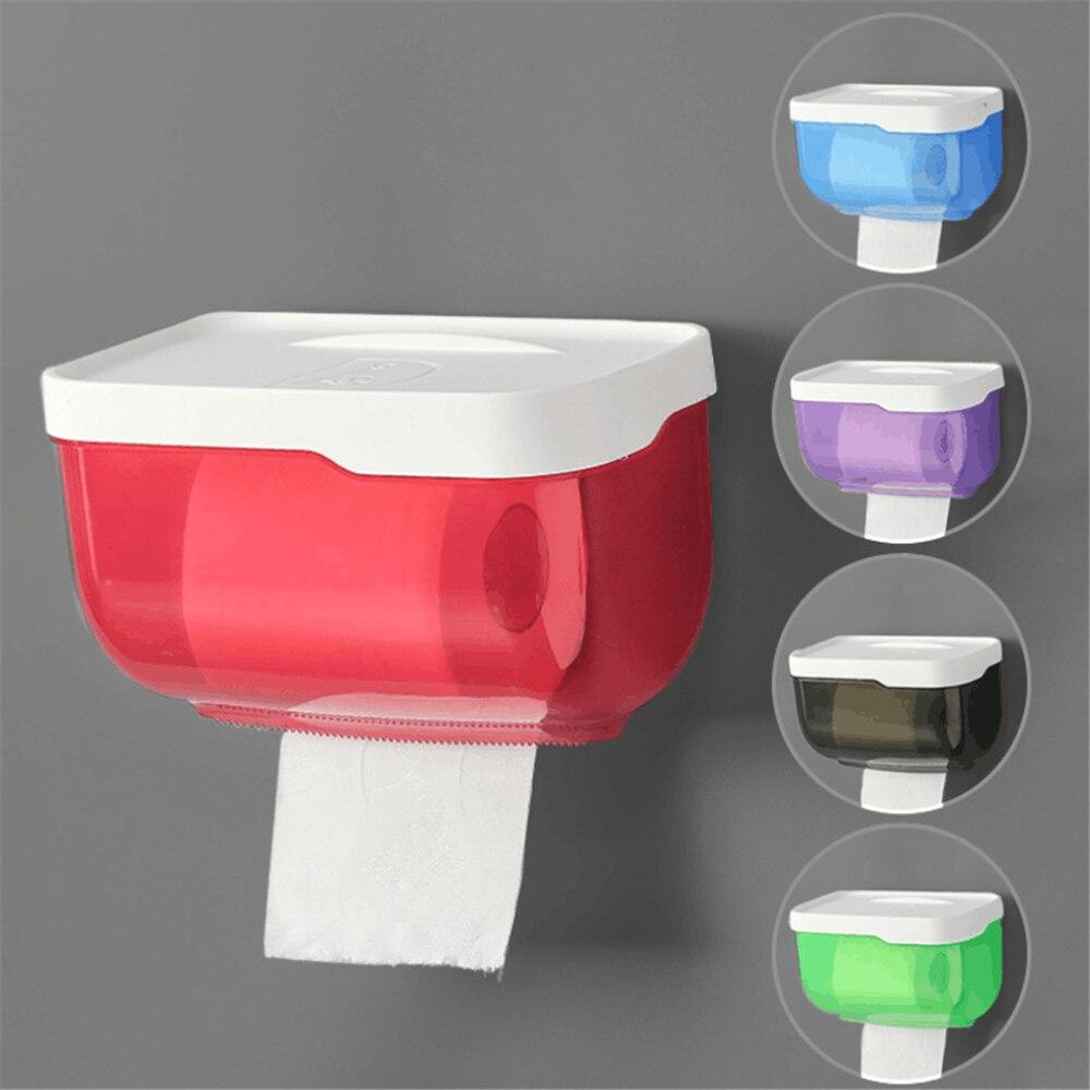 Mobile Phone Rack Paper Towel Box Waterproof Toilet Paper Holder Mobile Phone Storage Shelf Wall Mounted Rack New
