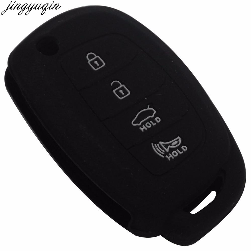 Remote Silicone Car Key Case For Hyundai I45 Ix35 I40 Elantra Sonata Mistra Santa F Tucson 4BTNS Fodling Key Cover