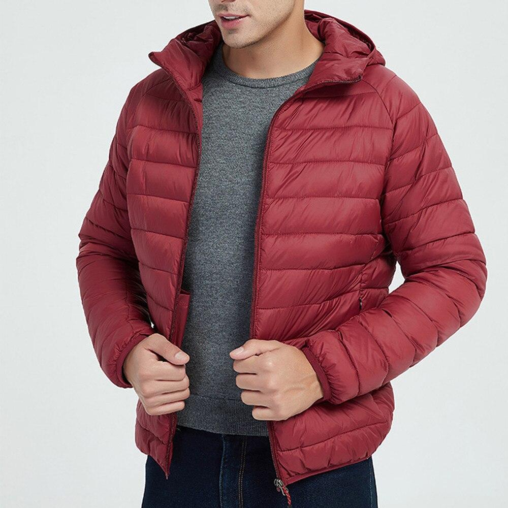 Hbfad5a8546ea4f6ebd9fce8655674b7bq Jacket Men Autumn Winter Style Light Weight Overcoat Outerwear Coats Cotton Warm Hooded Men's Jacket Coat chaqueta hombre S-2XL