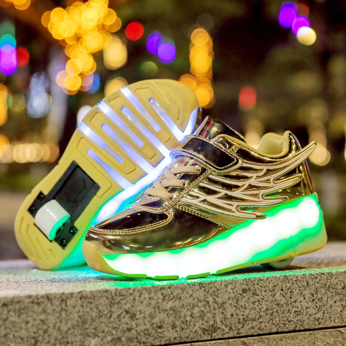 pit4tk Light Up Shoes-Flashing Sneakers Led Shoes Luminous Light Shoes with Rechargeable Sport Shoes for Boys Girls