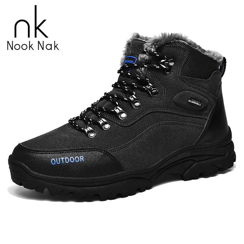 Men Winter Boots Quality Leather Boots Men Snow Boots Super Warm Short Plush Winter Shoes For Men Zapatos Caterpillar Hombre