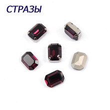 CTPA3bI 4610 Octagon Shape 204 Purple Color Fancy Beads Rhinestone Crystal Strass Charm For Making Jewelry DIY Garments