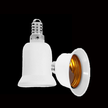 Fireproof Lamp Adapter Plastic E14 TO E27 Converter Conversion Socket High Quality Material Socket Light Bulb Adapter Lamp Holde image