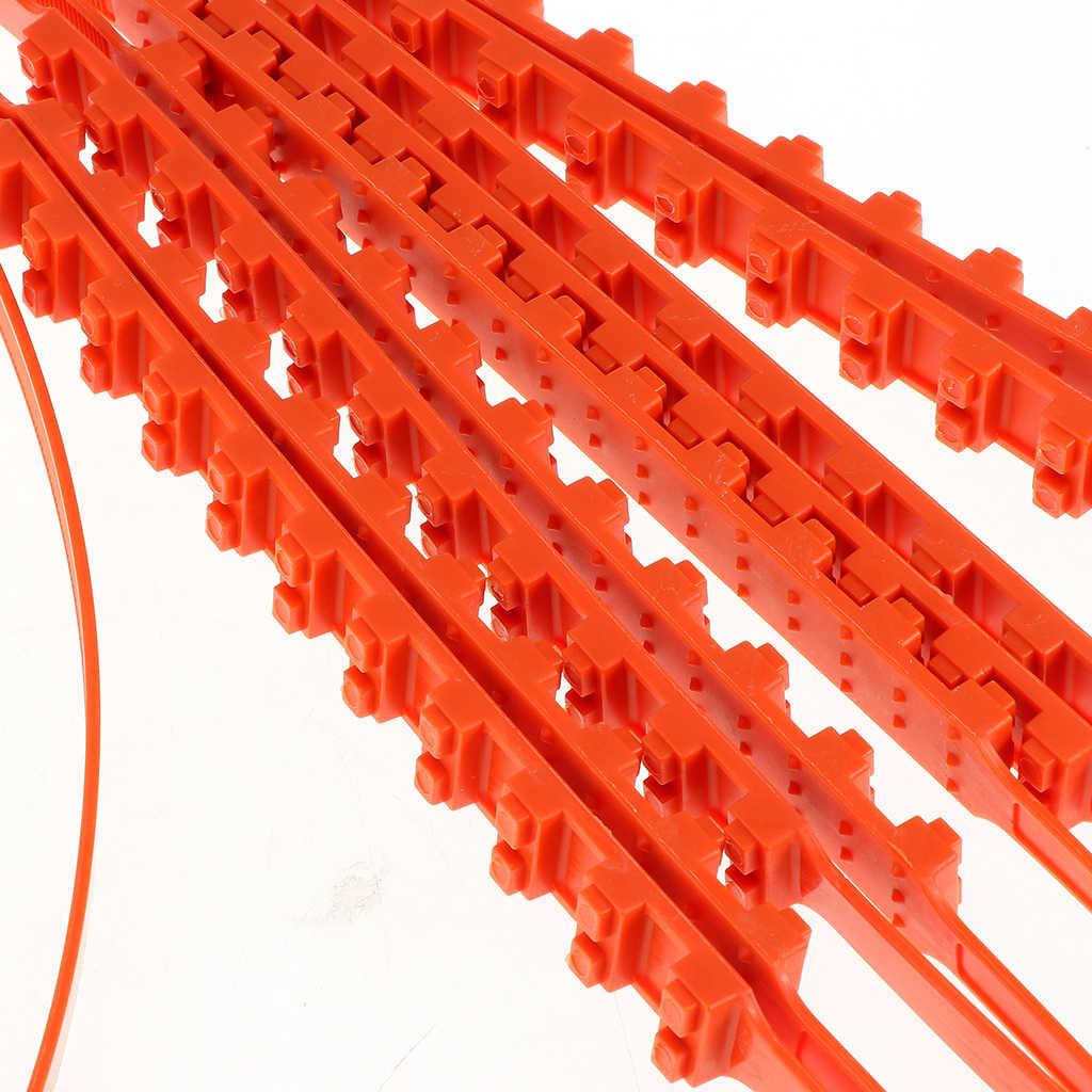 30 unids/pack rayas Mud Snow Tire Chain antideslizante cadenas correas de cinturón para coche camión SUV conducción de invierno, libre de Jack