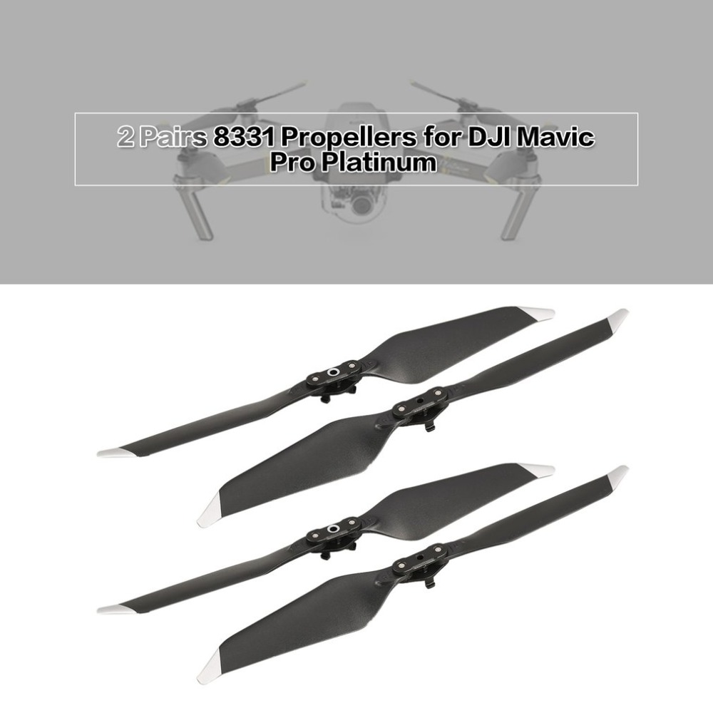 2 Pairs 8331 Low-Noise Quick-Release Replacement Blade Props Propeller for DJI Mavic Pro Platinum Drone RC Accessories Parts
