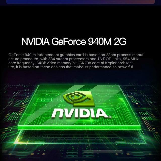 Gaming Laptop Core I7 Geforce940m 16G RAM 512G SSD Laptop 15.6 Laptop Gaming Computer Laptop Business Office Lightweight