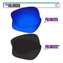 Replacement Lenses Holbrook Sunglasses-Black For-Oakley Polarized P-Plus-Navy-P