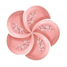 5 sztuk luksusowe Nordic kwiat śliwy ceramiczne przekąski talerze porcelany kostnej księżyc w kształcie płytkie talerze danie przekąski półmisek porcelanowe naczynia tanie tanio CN (pochodzenie) Snack Plates ROUND Bone china Floral Moon Shape Porcelain Dinner Plate Dish Ceramic Baking Plate Dishes