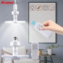 Lampe télécommandée lumière LED E27 28W blanc naturel haute luminosité pliant lampe à LED ampoule AC85-265V avec fonction de synchronisation à la maison