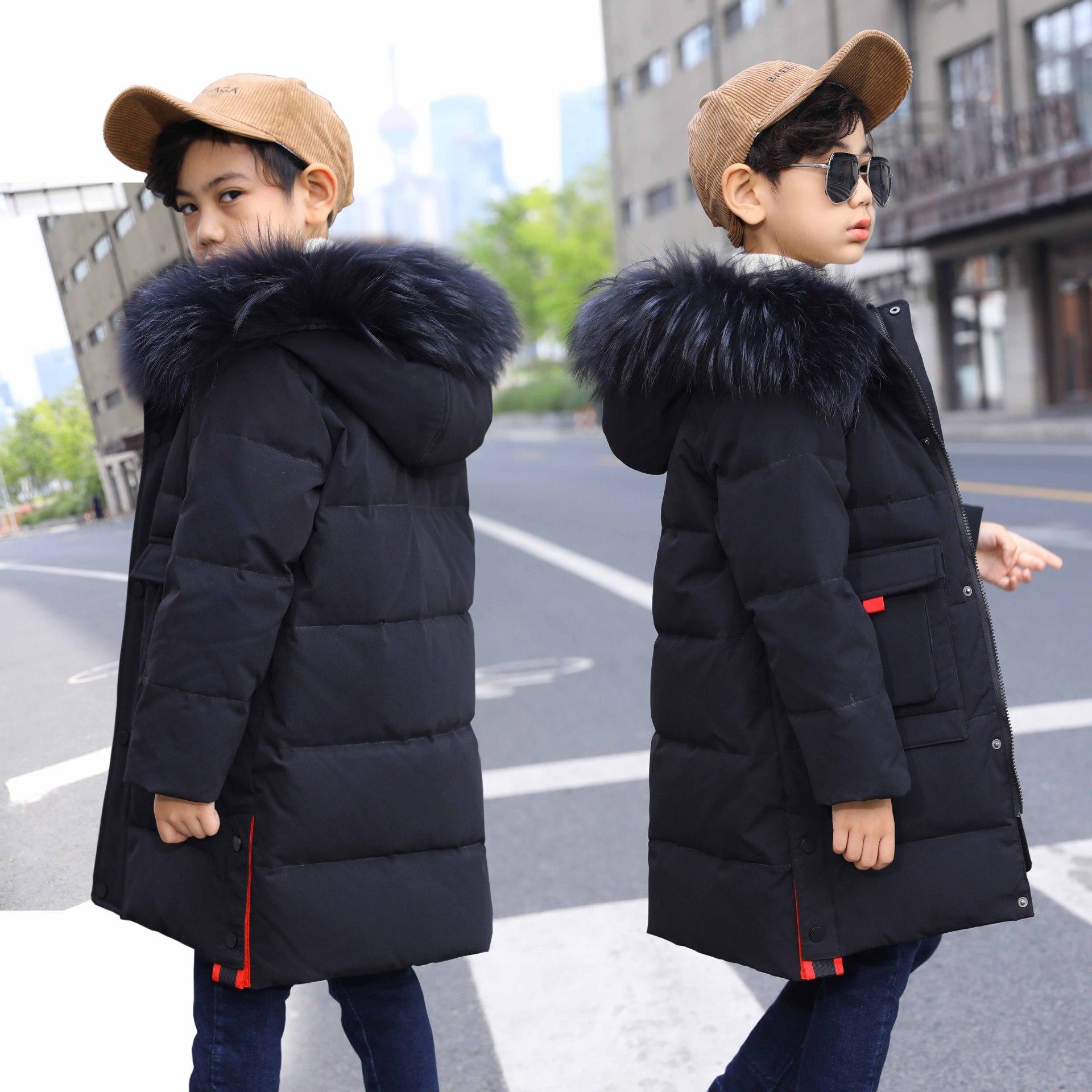 Coats Jackets Winter Outerwears Down Parkas Duck-Down Kids Children's Warm Thick Fur