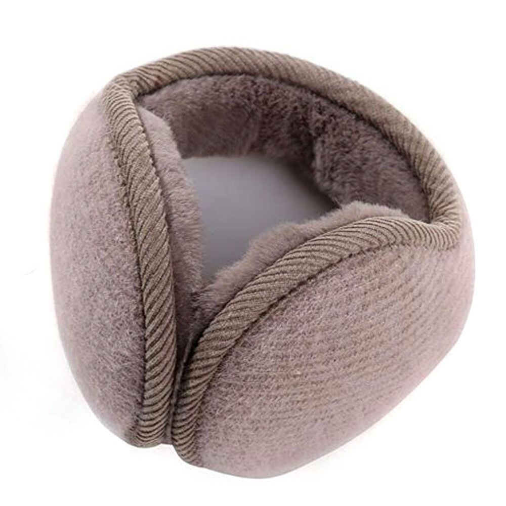 New Fashion Womens Mens Winter Outdoors Warmers Ear Bags Earmuffs Bandless Fleece Ear Earcap Beige Black Gray Pink