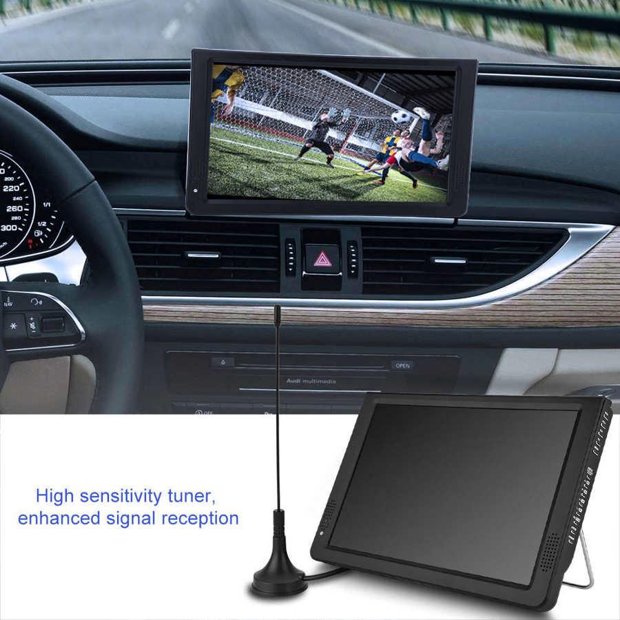 LEADSTAR 12 inch HD Portable TV ISDB-T USB Digital Television Mini Car TV Audio Video Player Support MP4 Monitor EU Plug 9 -