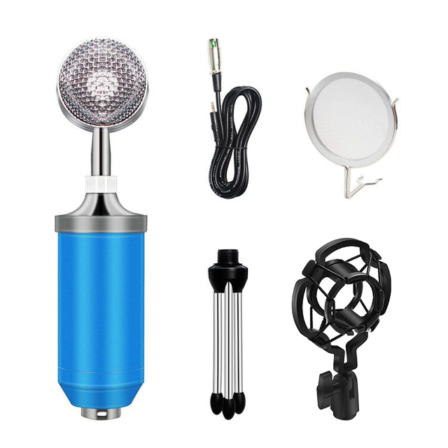 BM 8000 Microfono A Condensatore Kit 3.5 MILLIMETRI Studio di Registrazione Microfono Gaming KTV Karaoke Computer Youtuber