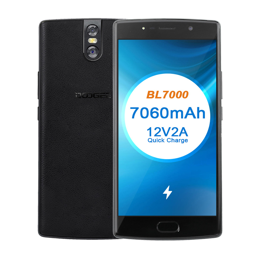 DOOGEE BL7000 7060mAh 12V2A Quick Charge 5.5 ''FHD MTK6750T Octa Core 4GB RAM 64GB ROM Smartphone dual 13.0MP Camera Android 7.0 - 6
