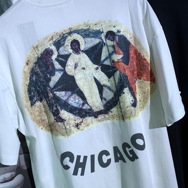 Jesus Is King Chicago blessing oil 3D Letter painting T-shirt  2