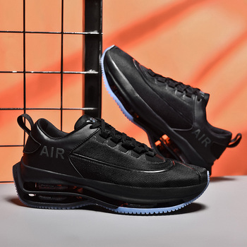 Big Air Cushion Men Running Shoes Thick Sole Platform Sneakers Daddy Shoes Height Increasing 5 CM Chunky Outdoor Walking Shoes 4 5 cm height toning shoes for women fitness walking slimming workout sneakers wedge platform air swing shoes for female