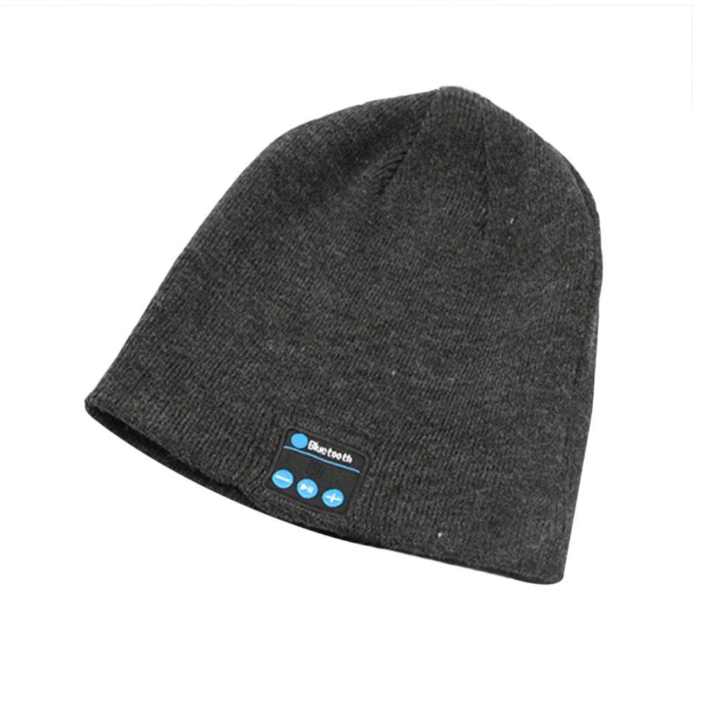 Bluetooth Earphone Music Hat Winter Wireless Headphone Cap Headset With Mic Sport Hat For Xiaomi Phone Portable Headset