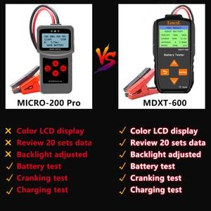 Image 4 - Lancol 12v testador de bateria de carro no sistema de manivela e sistema de carregamento ferramenta de verificação 40 2000 cca automotivo mau ferramenta de teste de célula