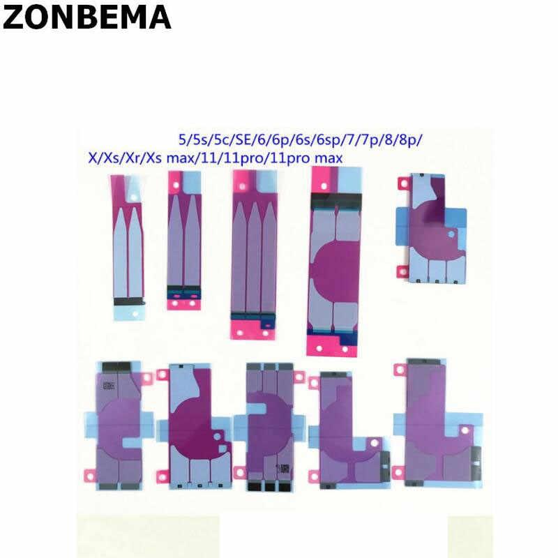 Zonbema 5Pcs Batterij Sticker Voor Iphone 5S 5C Se 6 6S 7 8 Plus X Xr xs 11 Pro Max Dubbele Tape Pull Reis Lijm
