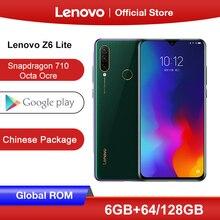 Toàn Cầu Rom Lenovo Z6 Lite 6GB 64GB Snapdragon 710 Octa Core Điện Thoại Thông Minh Ba Lưng Cam 19.5: 9 Hình Giọt Nước 6.3 Inch 4050 MAh