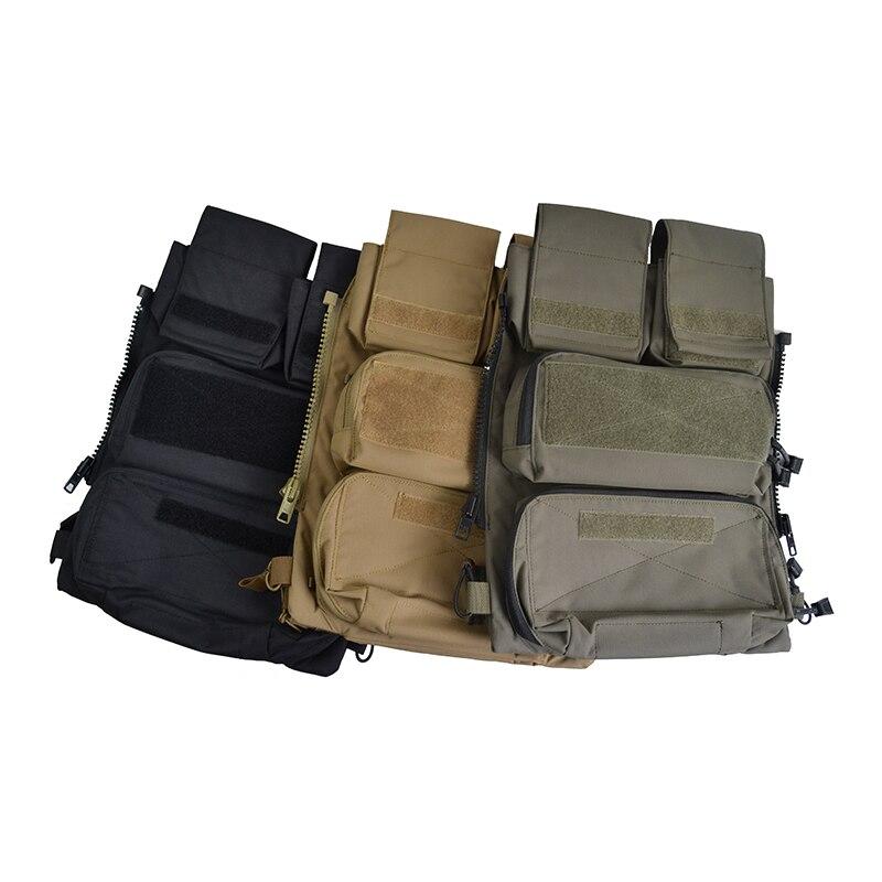 Pochette de Crye CP délirée panneau de fermeture à glissière 2.0 pour JPC CPC AVS militaire Molle sac de poche tactique sac de poche 500D Cordura TW-P075