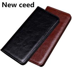 На Алиэкспресс купить чехол для смартфона high-end business genuine leather magnetic holder phone bag case for htc desire 19 plus/htc u19e phone case stand coque flip