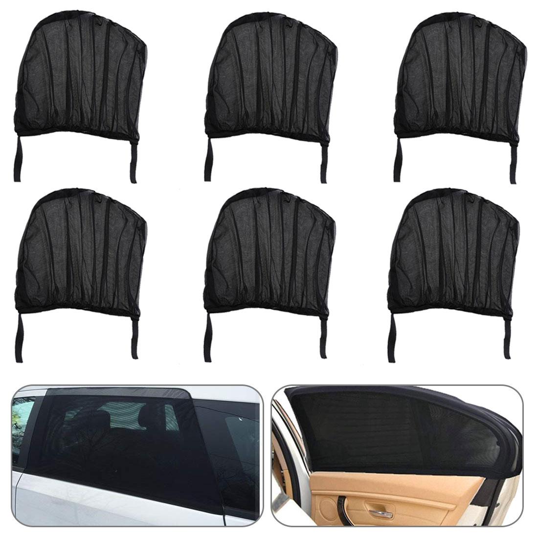 Car-Cover Visor-Shield Sun-Shade Window Black Auto 2pcs/Set Mesh Adjustable Rear