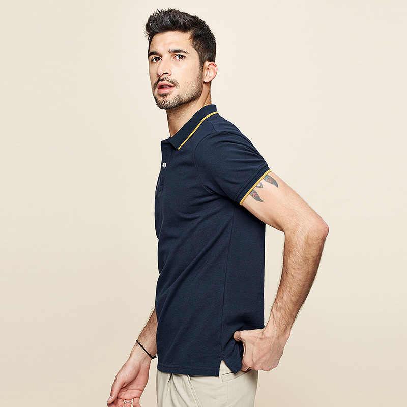 KUEGOU 2020 yaz % 100% pamuk Patchwork Polo GÖMLEK erkekler moda kısa kollu Slim Fit Poloshirt erkek marka üstleri artı boyutu 393